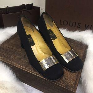 FENDI scarpe logo heels eu35.5
